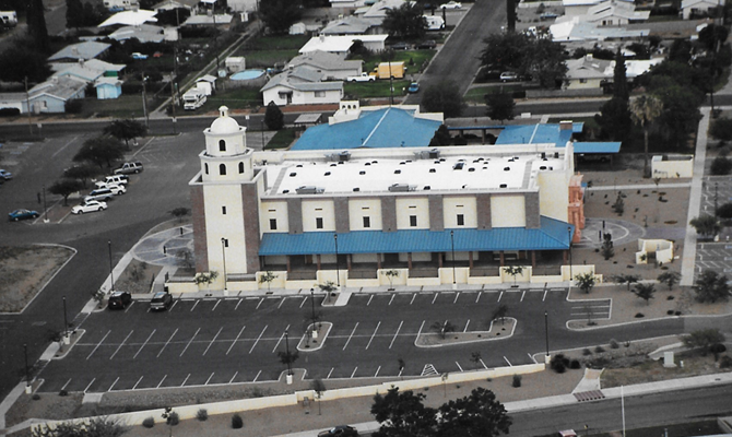 Church - West Aerial View